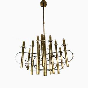 Lámpara de araña italiana de Gaetano Sciolari, años 70