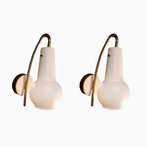 Vintage Italian Wall Sconces, Set of 2