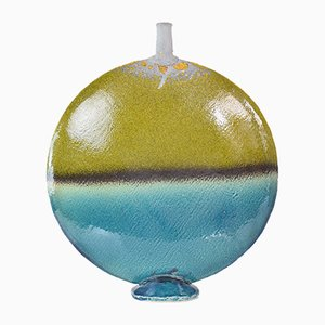 Vase Vintage en Céramique Rond
