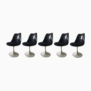 Black Tulip Chairs by Eero Saarinen for Pastoe, 1960s, Set of 5