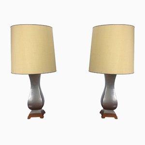 Vintage Tischlampen von Gerald Thorsten für Lightolier, 2er Set