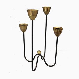 Kerzenhalter aus Messing & Metall von Gunnar Ander für Ystad Metall, 1960er