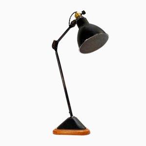 Lámpara de mesa 206 con base de roble de Bernard Albin Gras, años 20
