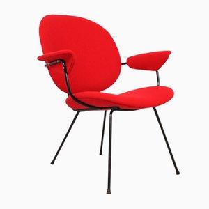 Roter Armlehnstuhl von W.H. Gispen für Kembo, 1950er