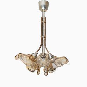 Französische Vintage Messing Deckenlampe