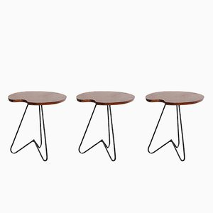 Table d'Appoint Vintage en Afromasia, Set de 3