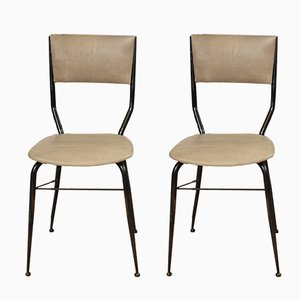 Italienische Mid-Century Esszimmerstühle, 4er Set
