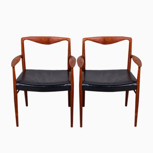 Danish Rosewood Armchairs by Kai Lyngfeldt-larsen for Søren Willadsen, 1960s, Set of 2