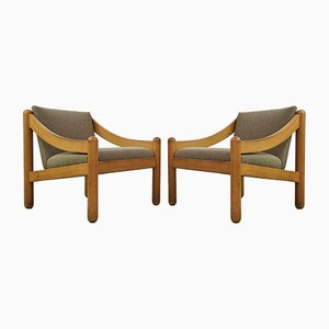 Vintage Armchairs by Vico Magistretti for Cassina, Set of 2
