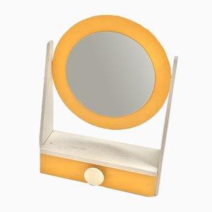Espejo de maquillaje con marco de contrachapado, años 60