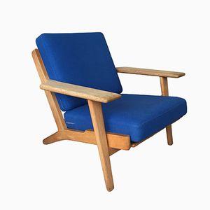 GE 290 Plank Sessel aus Eichenholz von Hans J. Wegner für Getama, 1950er