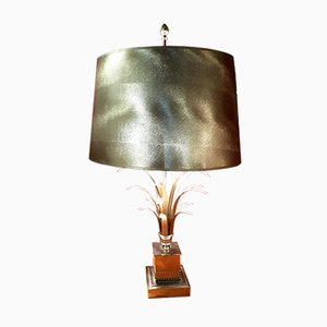 Lámpara vintage de níquel plateado, años 70