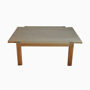 Vintage Danish Soap-Treated Solid Oak Coffee Table