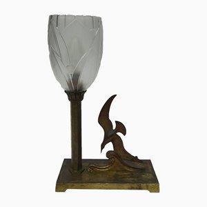Lámpara de mesa modernista con gaviota