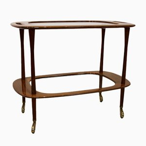 Walnut Bar Cart by Cesare Lacca for Cassina, 1950s