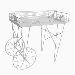 Mid-Century White Bar Cart, 1950s