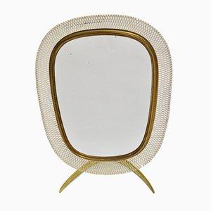 German Brass Table Mirror from Vereinigte Werkstätten München, 1950s