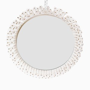 Mid-Century Round Illuminated Mirror by Emil Stejnar for Rupert Nikoll