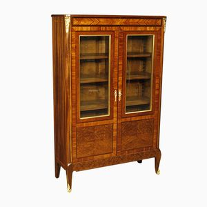 French Inlaid Showcase in Mahogany, 1950s