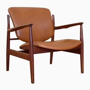 Danish Model 136 Armchair by Finn Juhl for France & Søn, 1956
