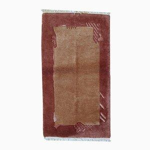 Alfombra Khaden tibetana vintage hecha a mano, años 70