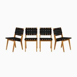 Sedie da pranzo Mid-Century moderno, set di 4
