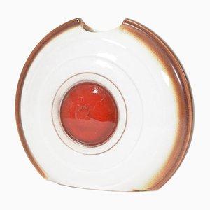 Jarrón checo de cerámica de Kravsko, 1979
