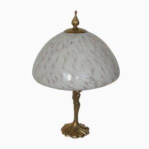Lampada vintage modernista in bronzo