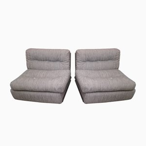 Amanta Lounge Chairs by Mario Bellini for B & B Italia, 1970s, Set of 2