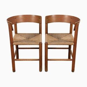 Vintage Stühle von Mogens Lassen für Fritz Hansen, 2er Set