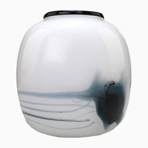 Dänische Kunstglas Atlantis Vase von Michael Bang für Holmegaard, 1981
