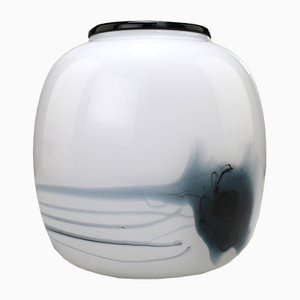 Danish Art Glass Atlantis Vase by Michael Bang for Holmegaard, 1981