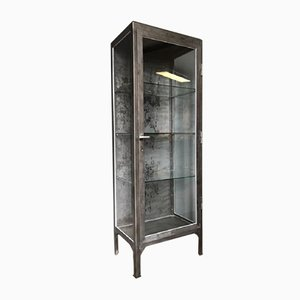 Polish Polished Metal Medical Cabinet, 1950s
