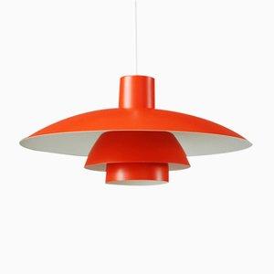 Lampada PH4/3 vintage arancione di Poul Henningsen per Louis Poulsen