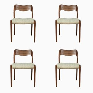 Chaises de Salle à Manger par Niels O. Møller, 1960s, Set de 4