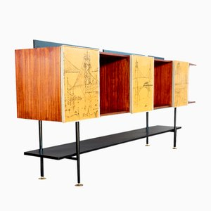 Mid-Century Italian Free-Standing Sideboard, 1950s