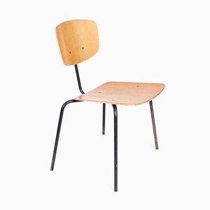Vintage Stuhl aus Metall und Holz