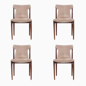 Chaises de Salon IK Mid-Century en Palissandre de Rio par Inger Klingenberg pour Fristho Franeker, Set de 4