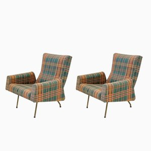 Lounge Chairs by Louis Paolozzi for Zol, 1950s, Set of 2