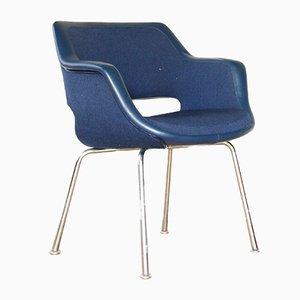 Poltrona vintage blu di Olli Mannermaa