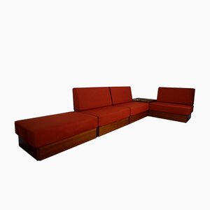 Vintage Modular Studioline Veneer Sofa Set by Verner Panton for France & Søn