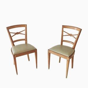 Stühle aus Bergahorn, 1940er, 2er Set