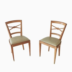 Sycamore Chairs, 1940s, Set of 2