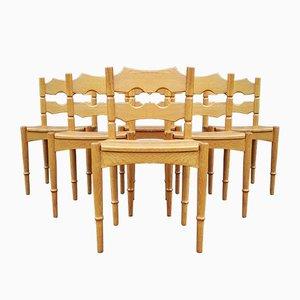 Dänische Esszimmerstühle von Henning Kjaernulf für EG Kvalitetsmobel, 1950er, 6er Set