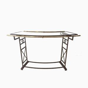 Mueble bar francés de hierro forjado, años 80