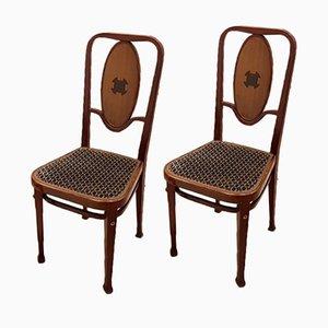 Chaises 414 Sécession Viennoise par Marcel Kammerer pour Thonet, 1910s, Set de 2