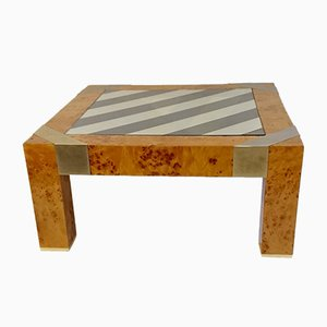 Mesa de centro vintage de madera nudosa