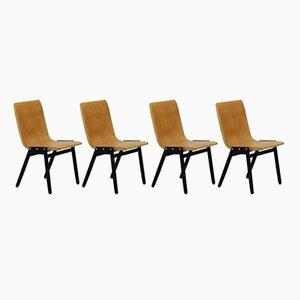 Sedie impilabili Mid-Century di Roland Rainer, set di 4