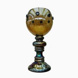 Centro de mesa Roemer de cristal de Murano, años 80