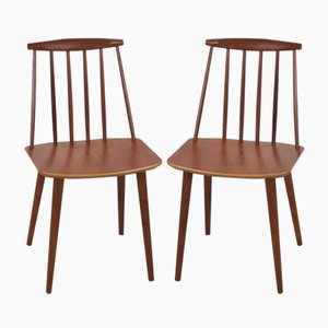 Teak J77 Chairs by Folke Palsson for FDB Møbelfabrik, 1960s, Set of 2